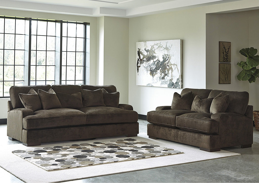 Bisenti Chocolate Sofa and Loveseat,Benchcraft