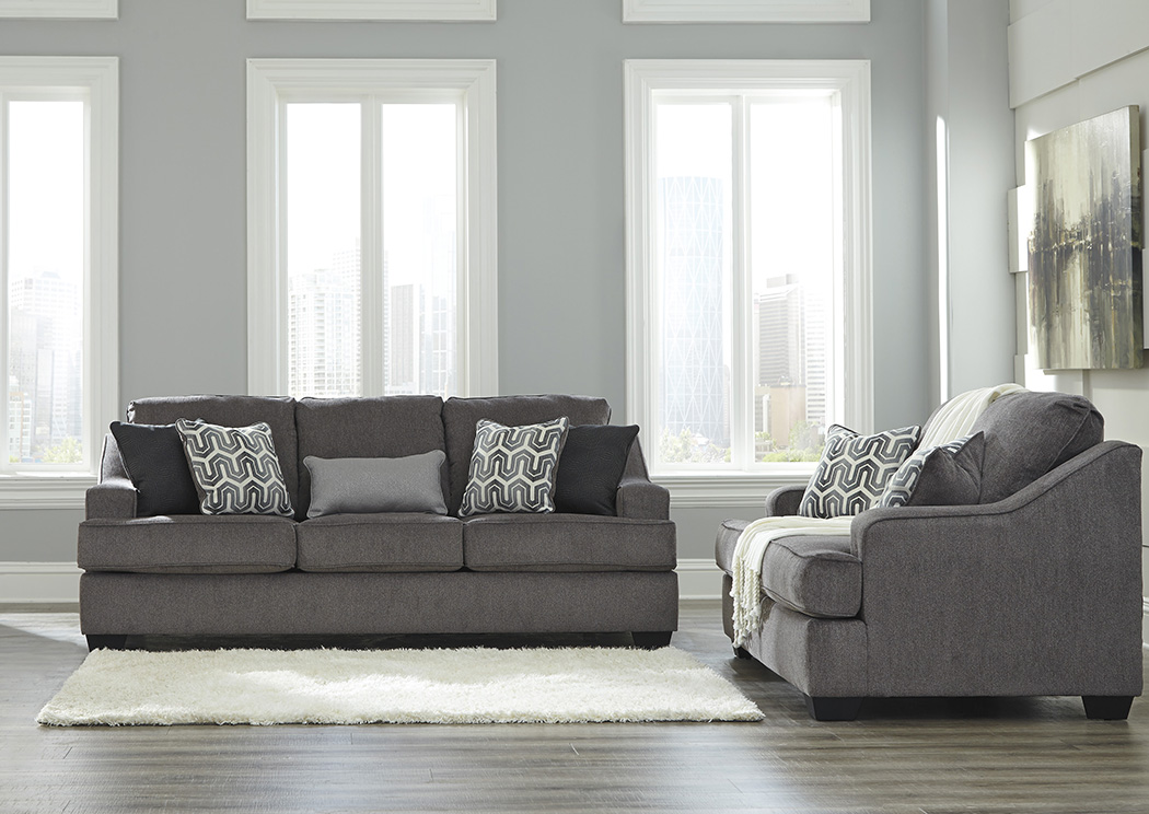 Gilmer Gunmetal Sofa and Loveseat,Signature Design By Ashley