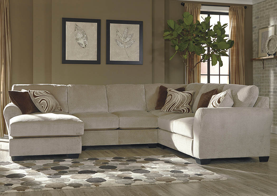Nulook furniture hazes fleece left facing corner chaise for Apartment sectional with chaise
