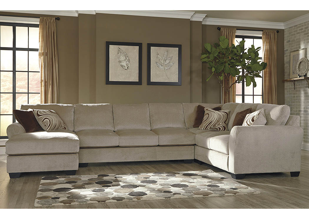 Taft Furniture Sleep Center Hazes Fleece Left Facing Corner Chaise Sectional W Right Facing Sofa