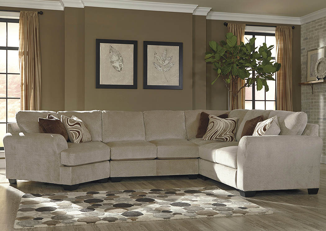Regal House Furniture Outlet   New Bedford, MA Hazes Fleece Sectional  W/Left Facing Cuddler