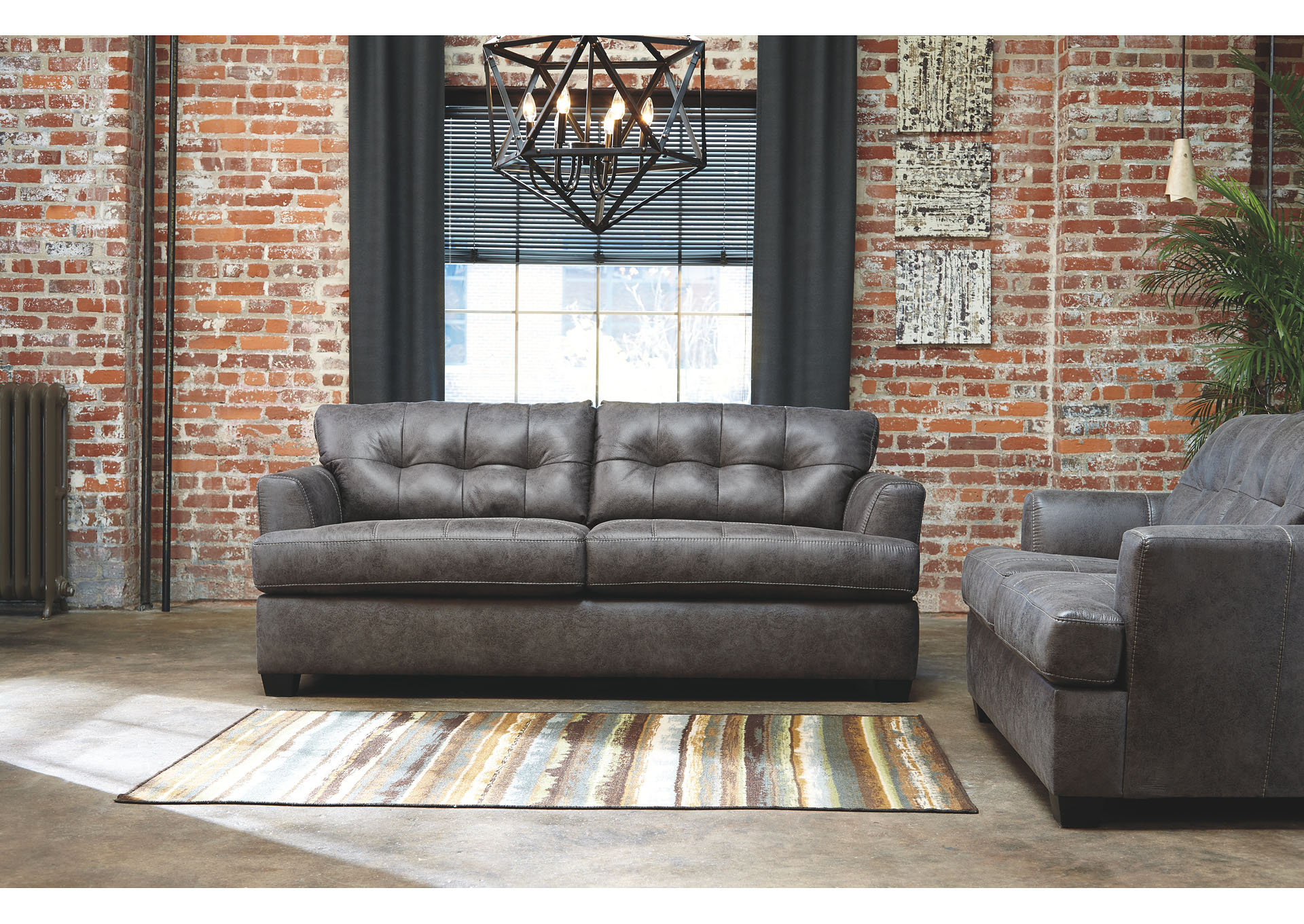 Inmon Charcoal Sofa and Loveseat,Benchcraft