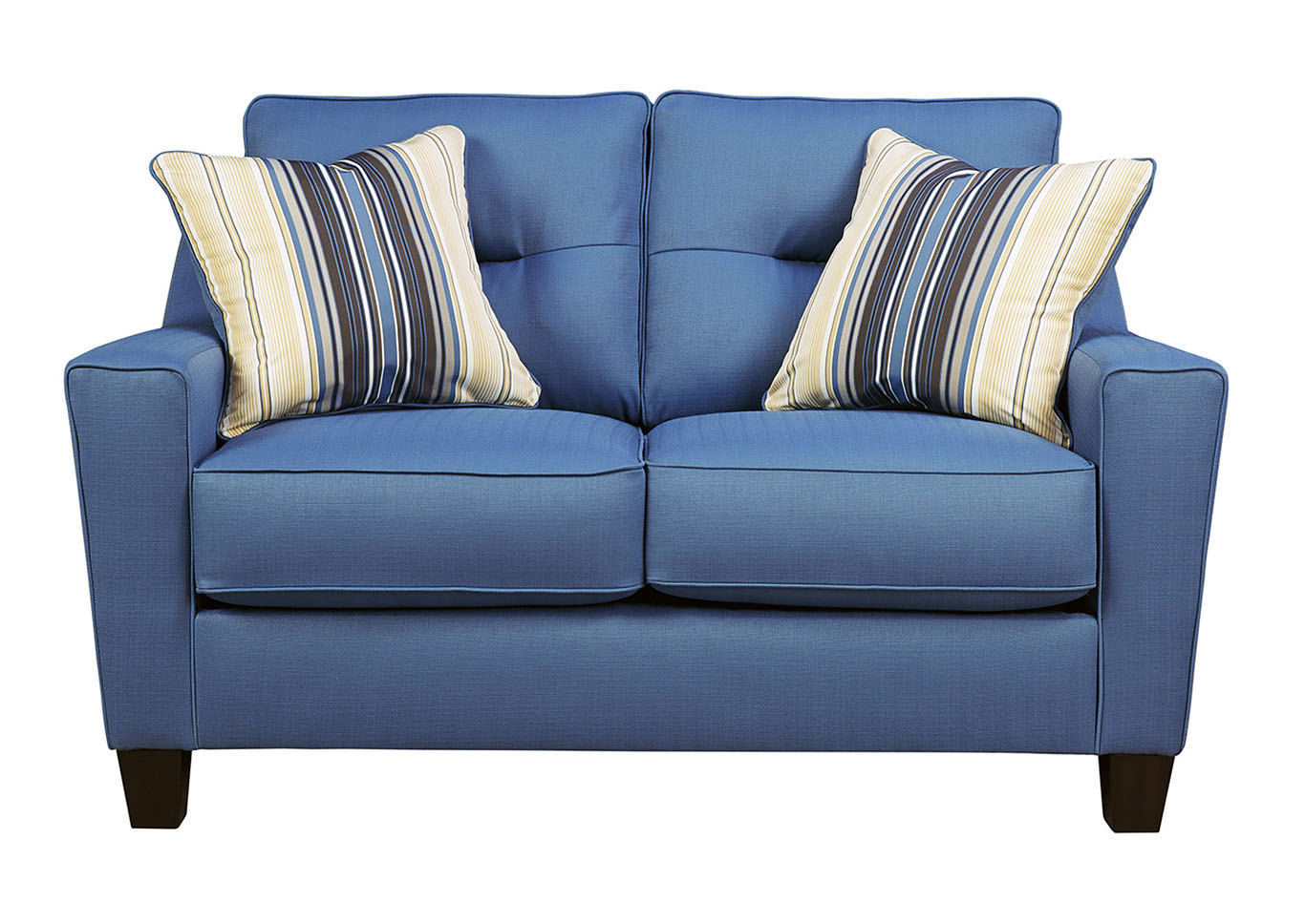 Newman Furniture Of Elgin Forsan Nuvella Blue Loveseat