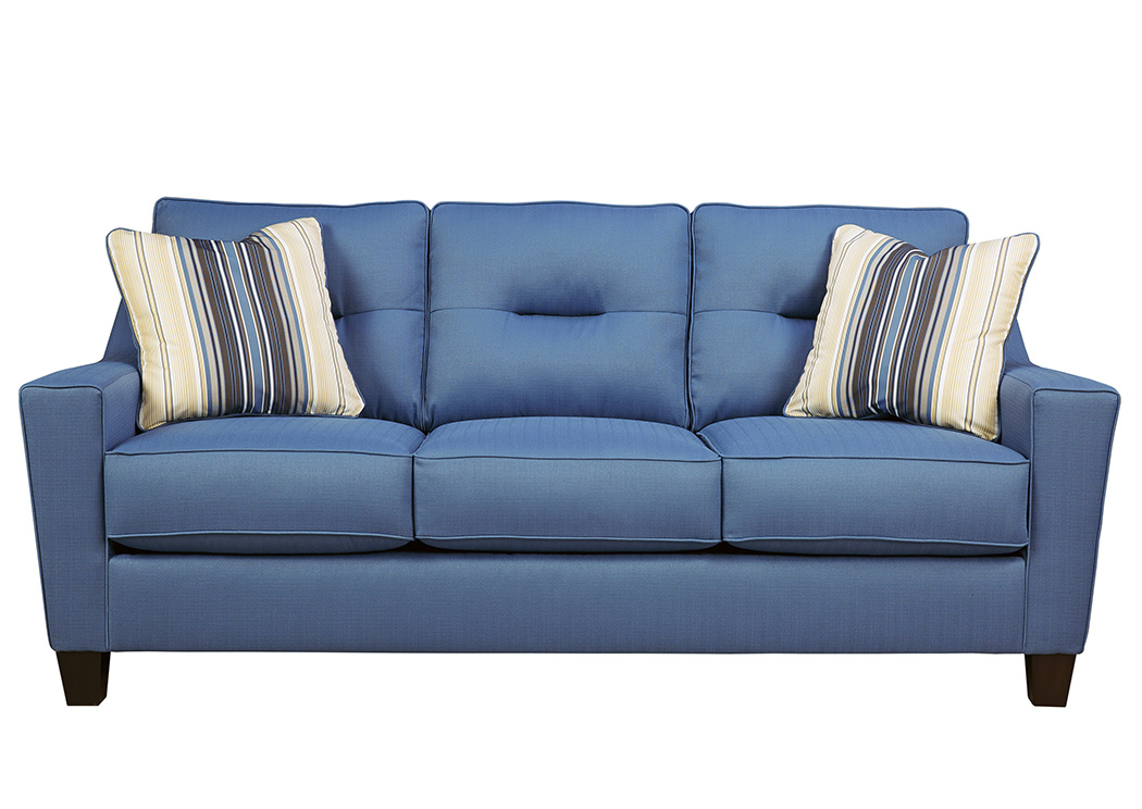 Davis Home Furniture Asheville Nc Forsan Nuvella Blue Sofa