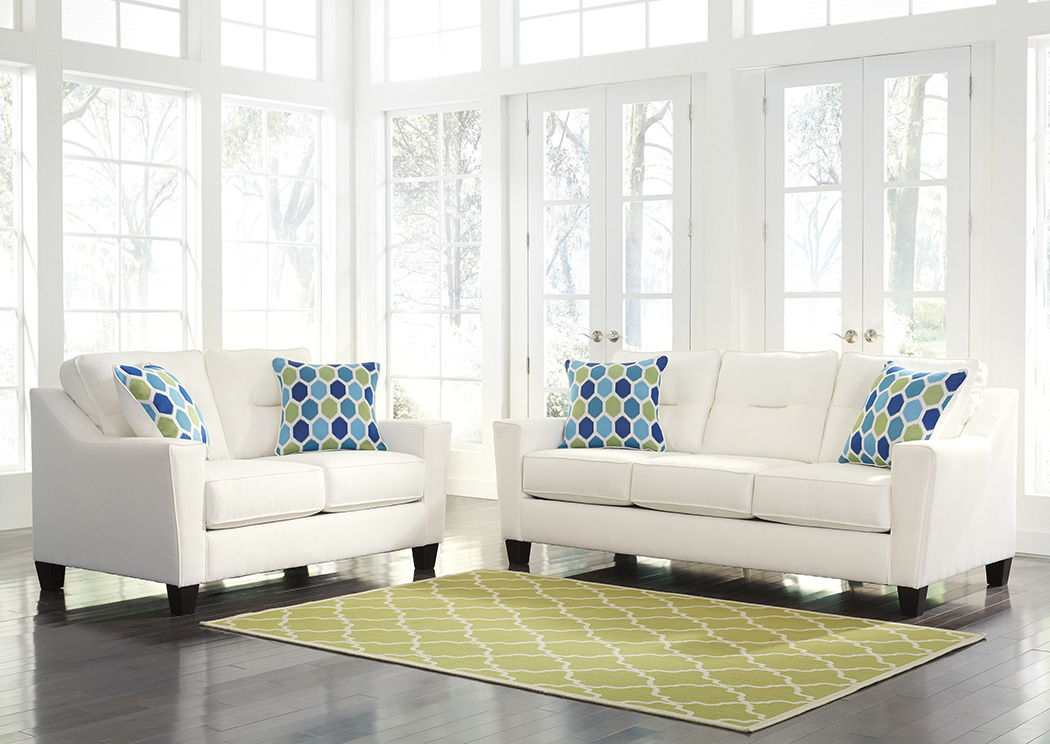 Forsan Nuvella White Sofa and Loveseat,Benchcraft