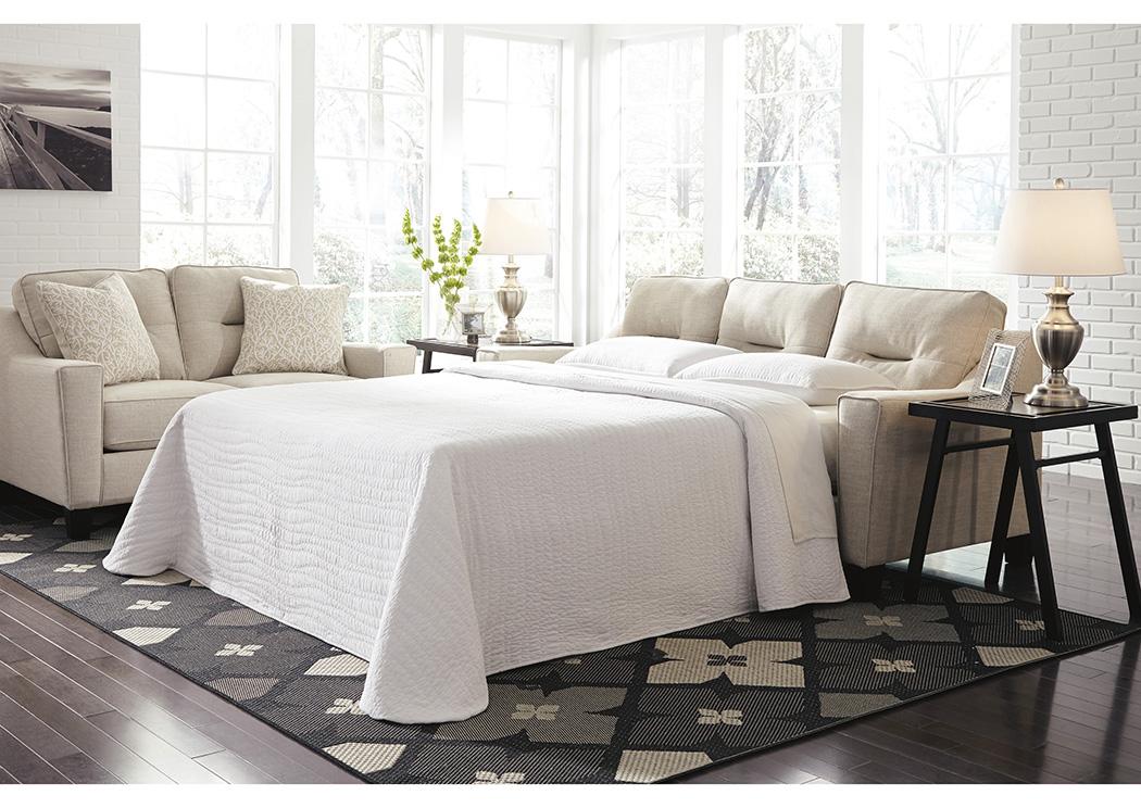 Kensington Furniture Forsan Nuvella Sand Queen Sofa Sleeper