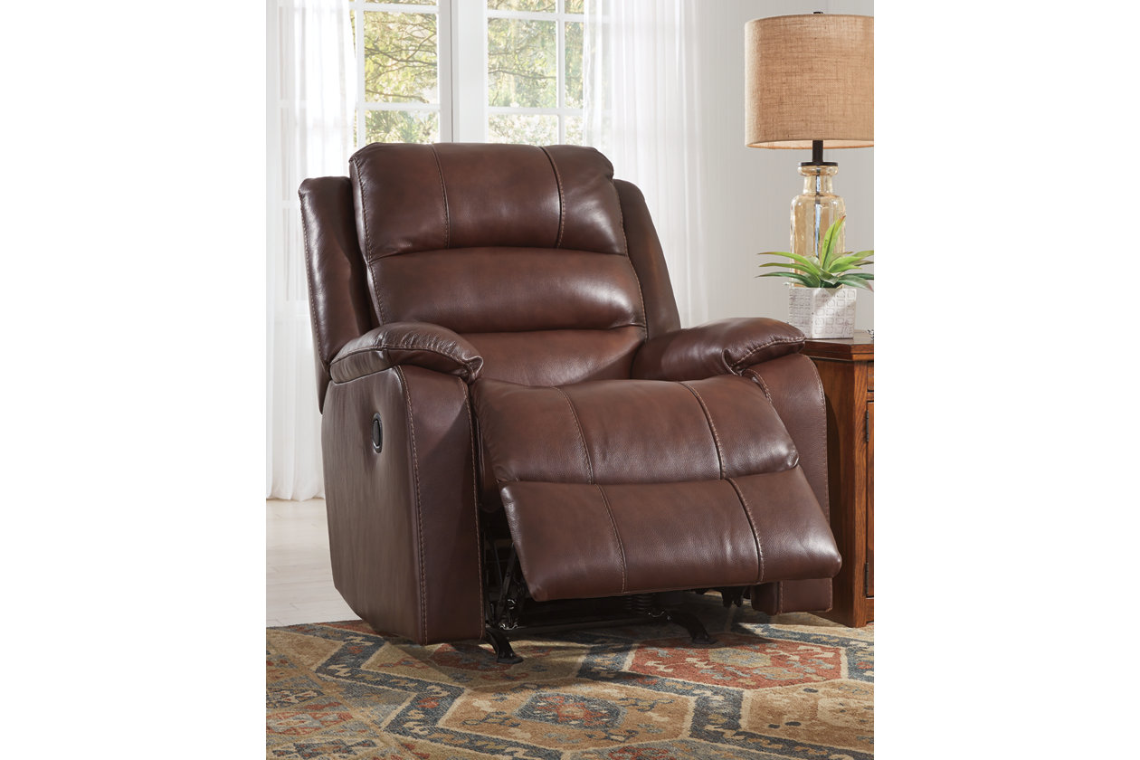 Wylesburg Mahogany Recliner,Signature Design By Ashley