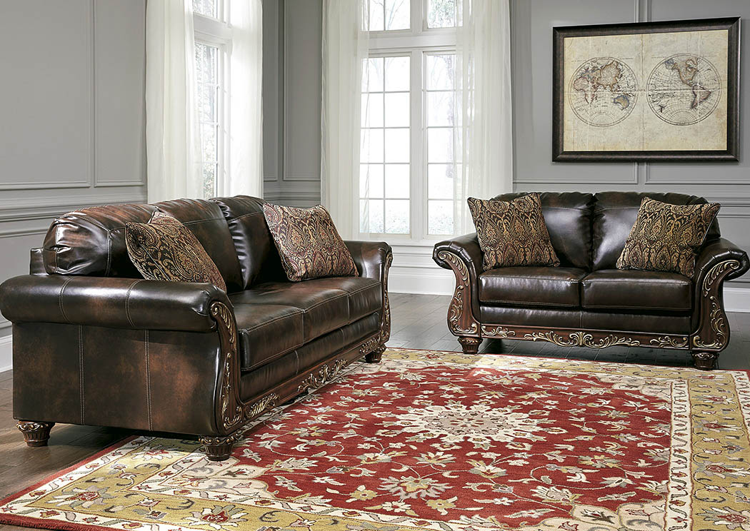 Vanceton Antique Sofa And LoveseatSignature Design By Ashley