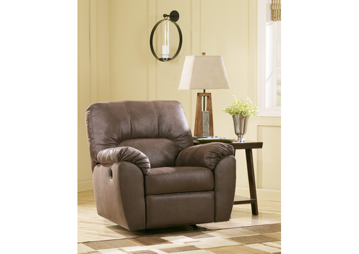 Amazon Walnut Rocker Recliner,Signature Design by Ashley