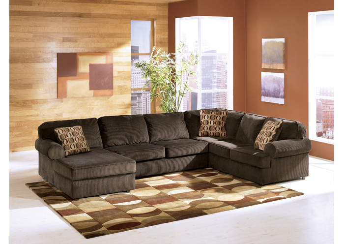 Vista Chocolate Left Facing Chaise Sectional,Ashley