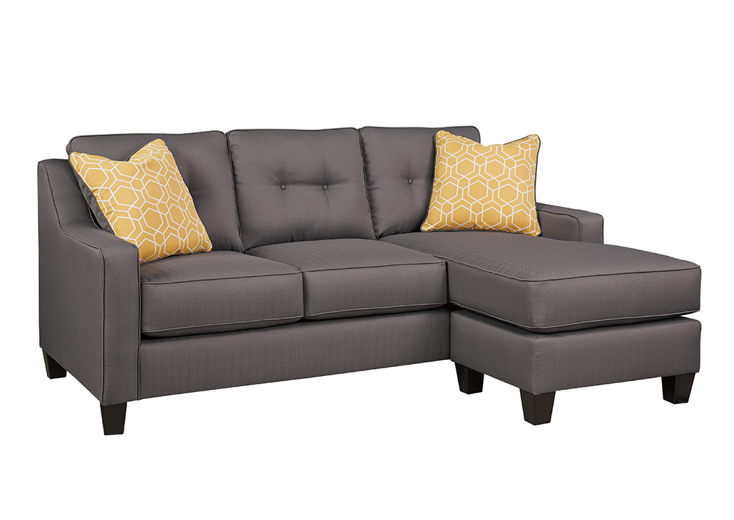 Furniture World Nw Aldie Nuvella Gray Sofa Chaise