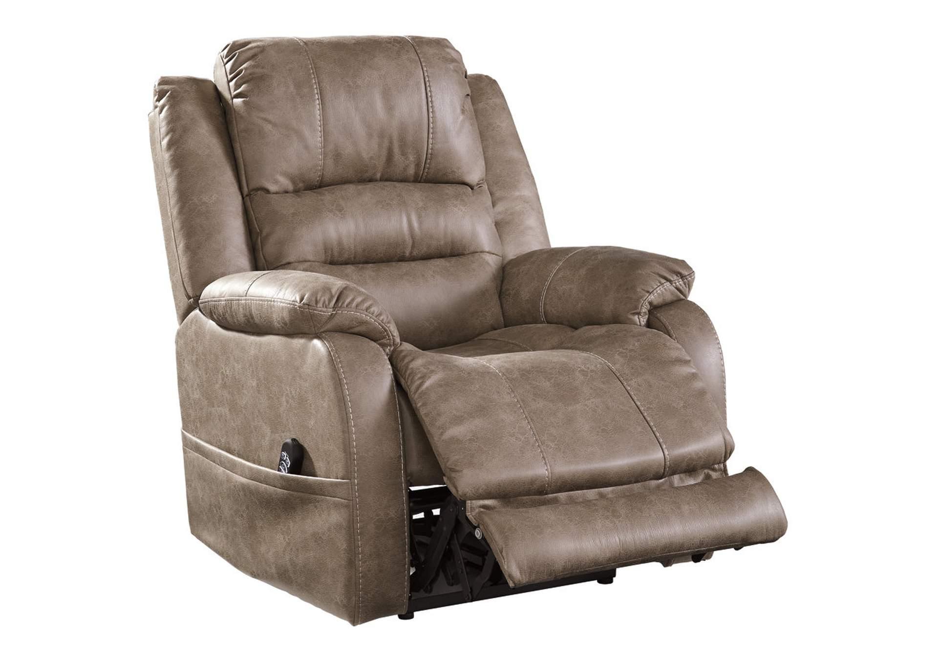 Long Furniture Rainbow City Al Barling Mushroom Power Recliner W Adjustable Headrest