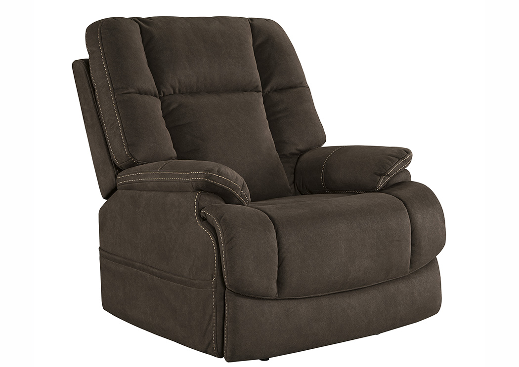 Fourche Bark Power Recliner w/Adjustable Headrest,Signature Design by Ashley