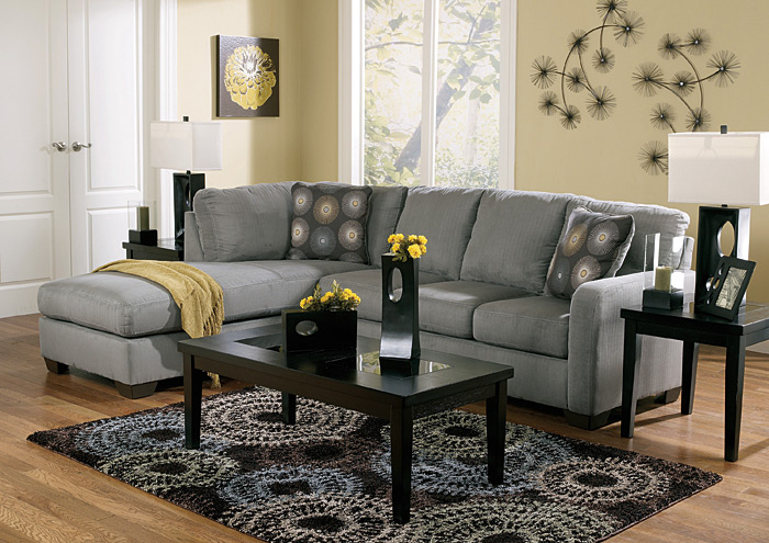Clearance. Zella Charcoal Left Facing Chaise Sectional Part 35
