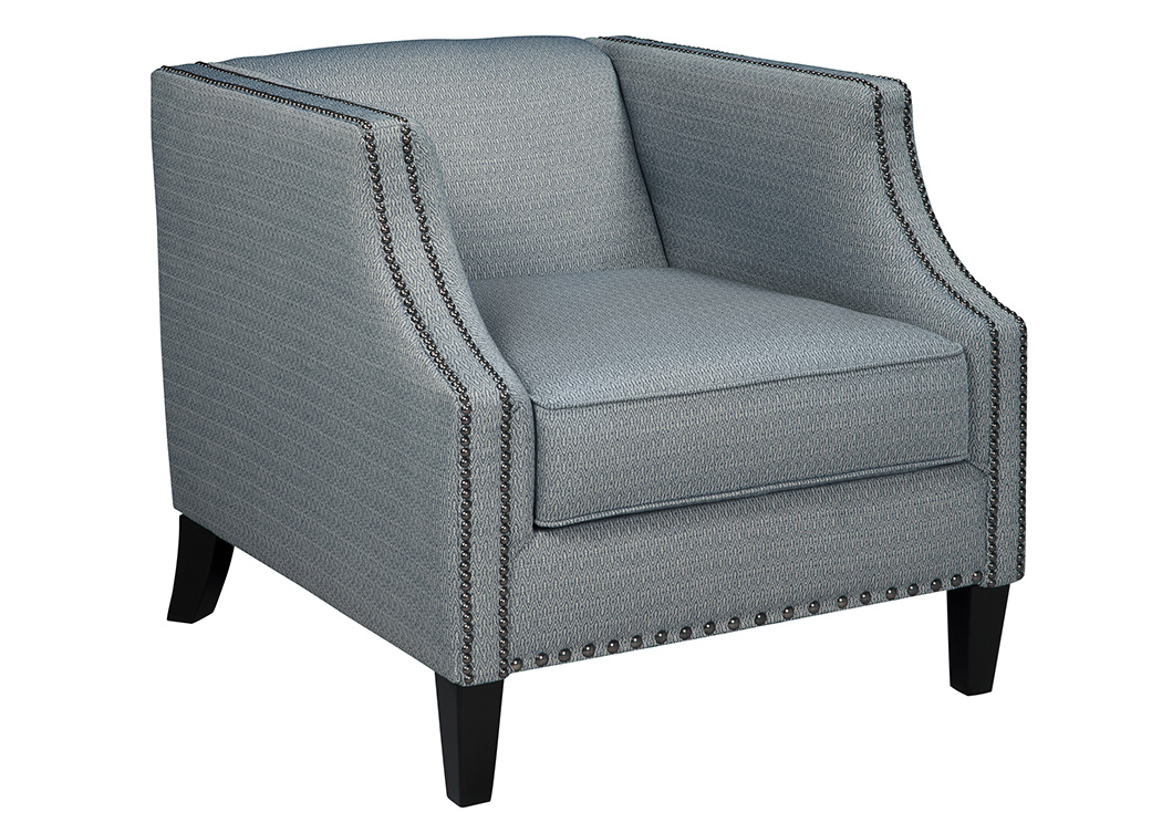 Furniture exchange lavernia navy accent chair for Furniture exchange