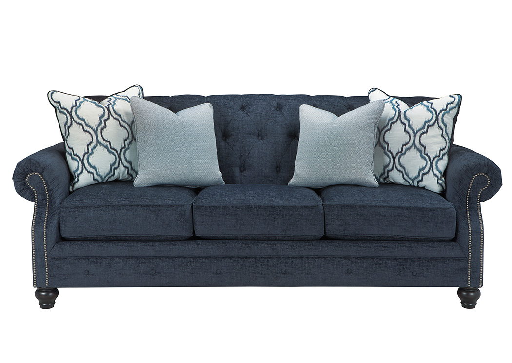 Nick S Furniture Sugar Grove Il Lavernia Navy Sofa