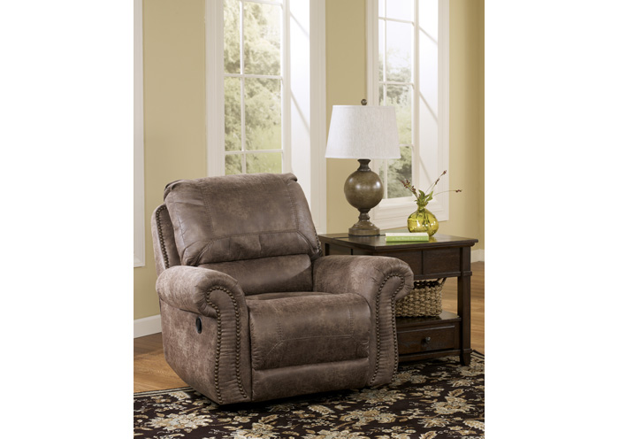 Oberson Gunsmoke Swivel Glider Recliner,Signature Design By Ashley