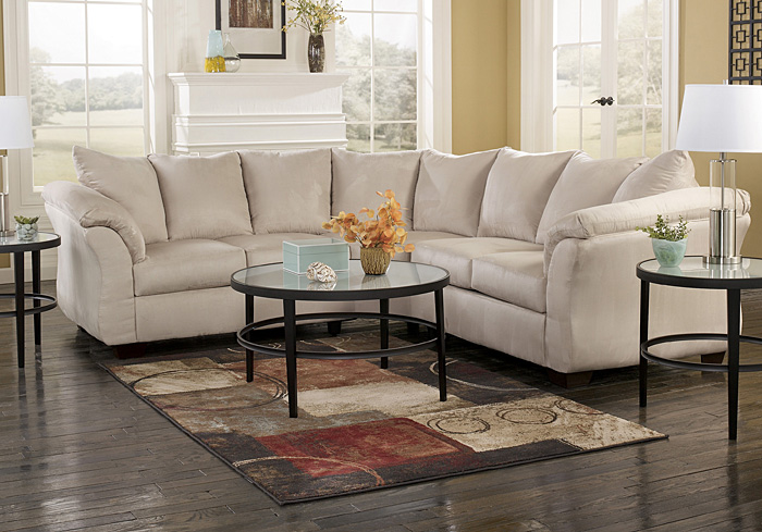 Darcy Stone SectionalSignature Design by Ashley : ashley darcy sectional - Sectionals, Sofas & Couches
