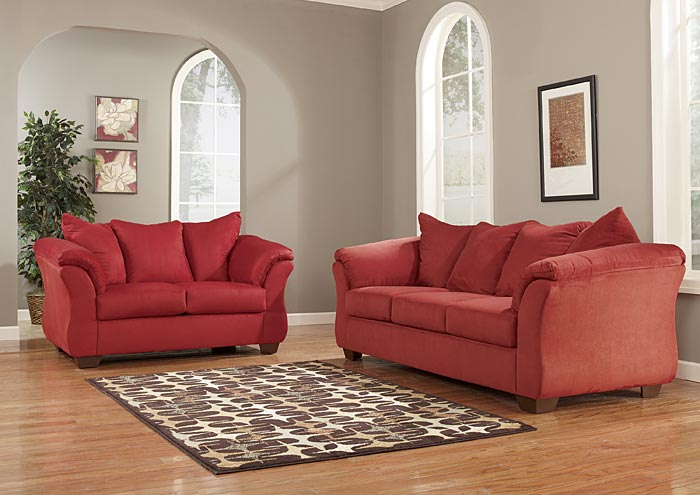 Darcy Salsa Sofa Loveseat