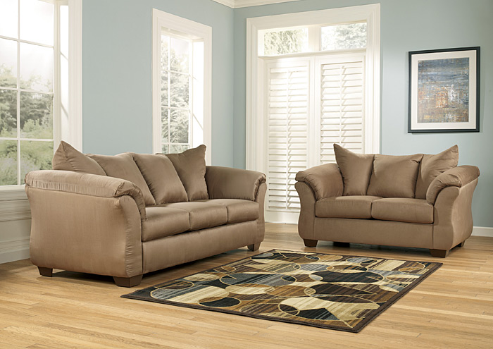 Amazing Darcy Mocha Sofa U0026 Loveseat