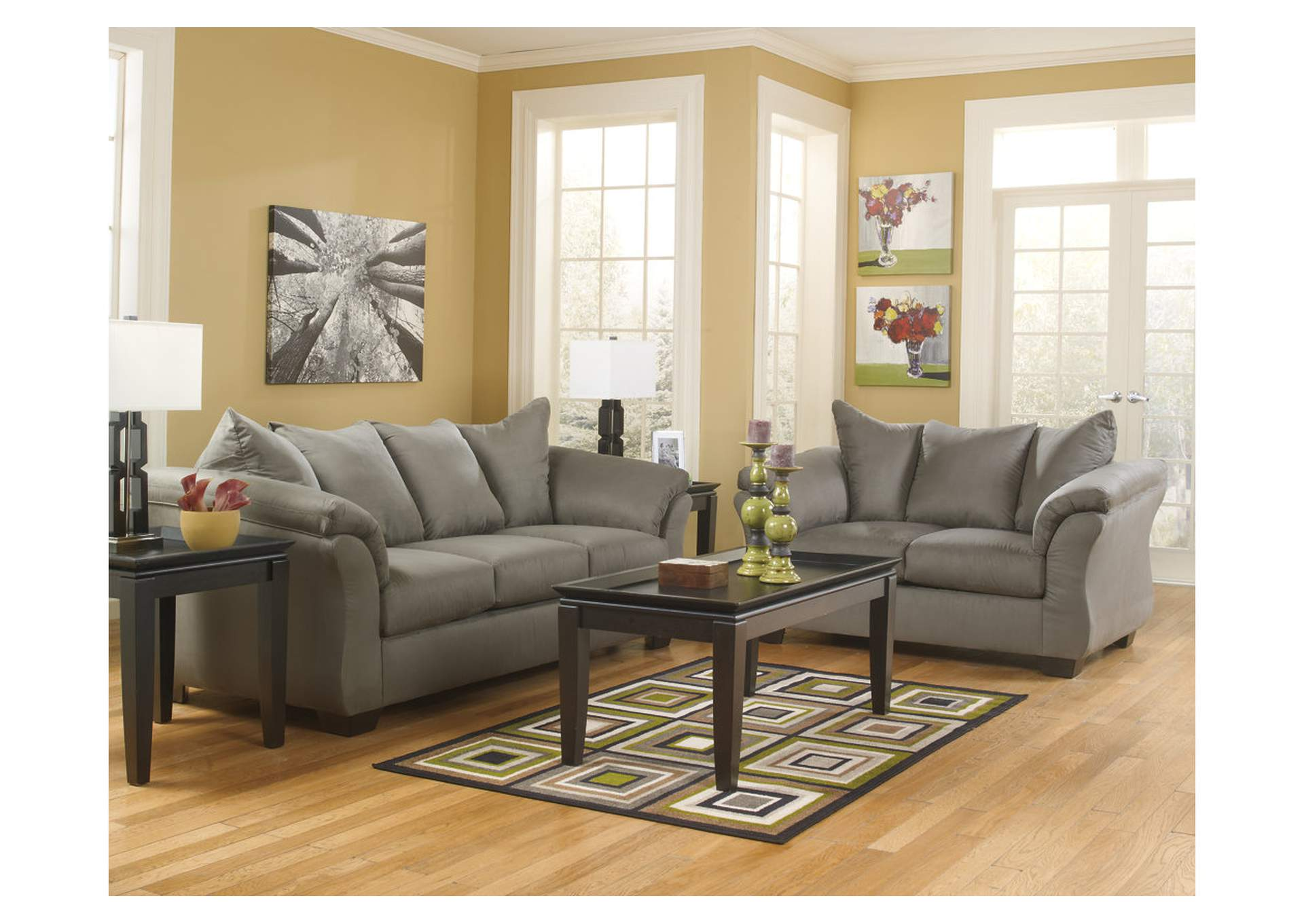 Darcy Cobblestone Sofa  & Loveseat,ABF Signature Design by Ashley