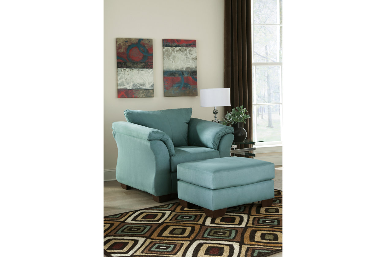 Darcy Sky Chair & Ottoman,Signature Design by Ashley