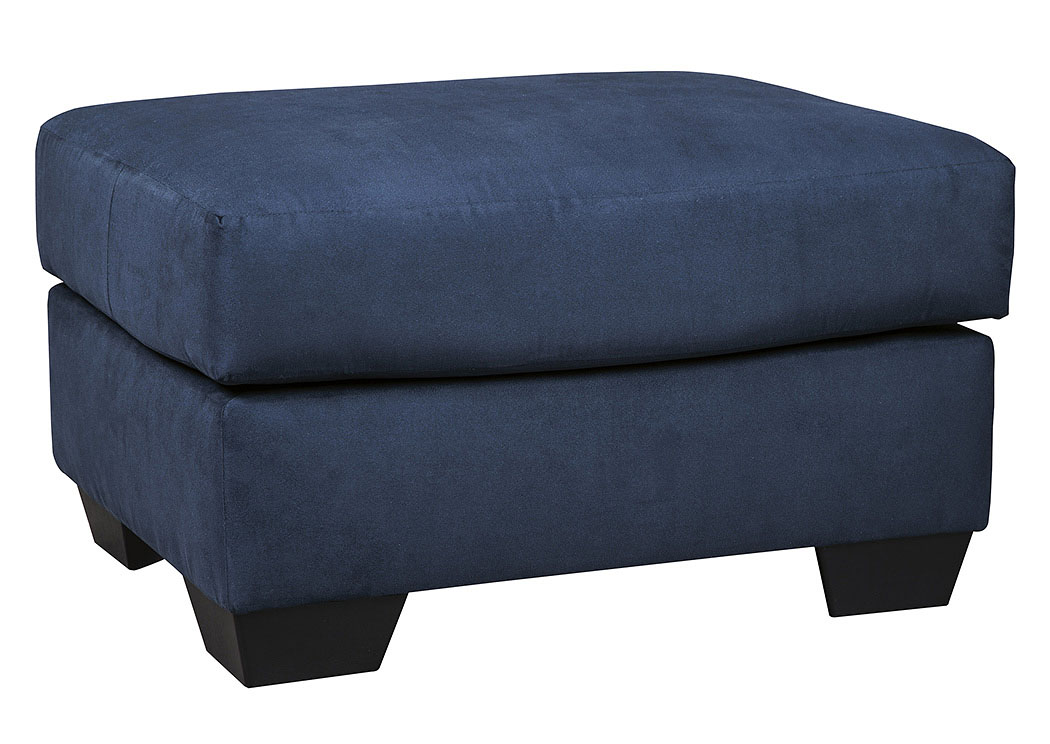 Darcy Blue Ottoman,Signature Design By Ashley