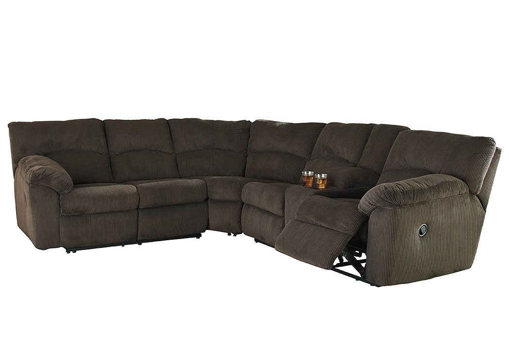 Hopkinton Chocolate Reclining Sectional,Signature Design By Ashley