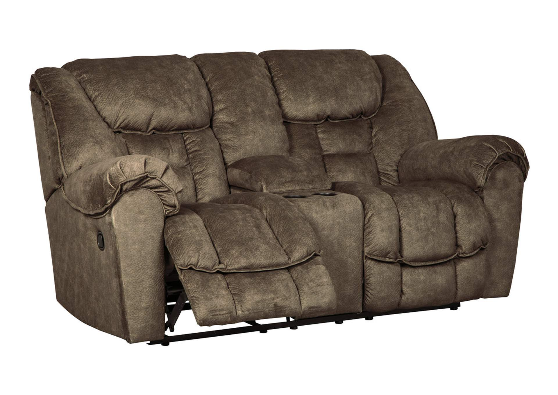Capehorn Earth Double Reclining Loveseat w/Console,Signature Design By Ashley