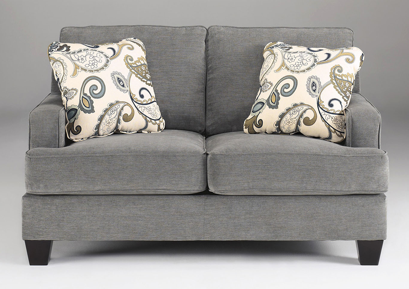 Yvette Steel Loveseat,Ashley