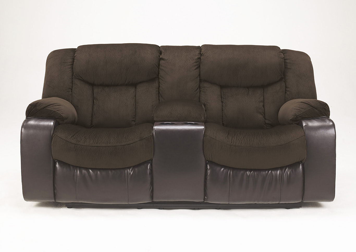 Tafton Java Double Reclining Loveseat w/Console,Signature Design By Ashley