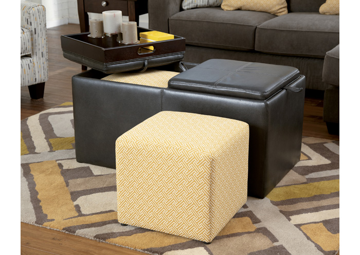 Hodan Marble Ottoman w/Storage,Signature Design By Ashley