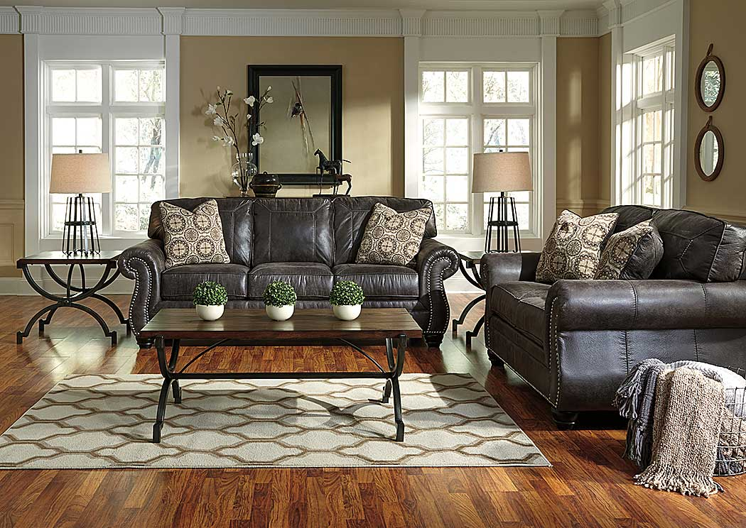 Breville Charcoal Sofa, Loveseat & Recliner,Benchcraft