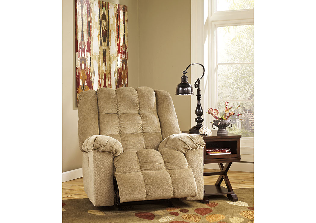 Ludden Sand Power Rocker Recliner,Signature Design By Ashley