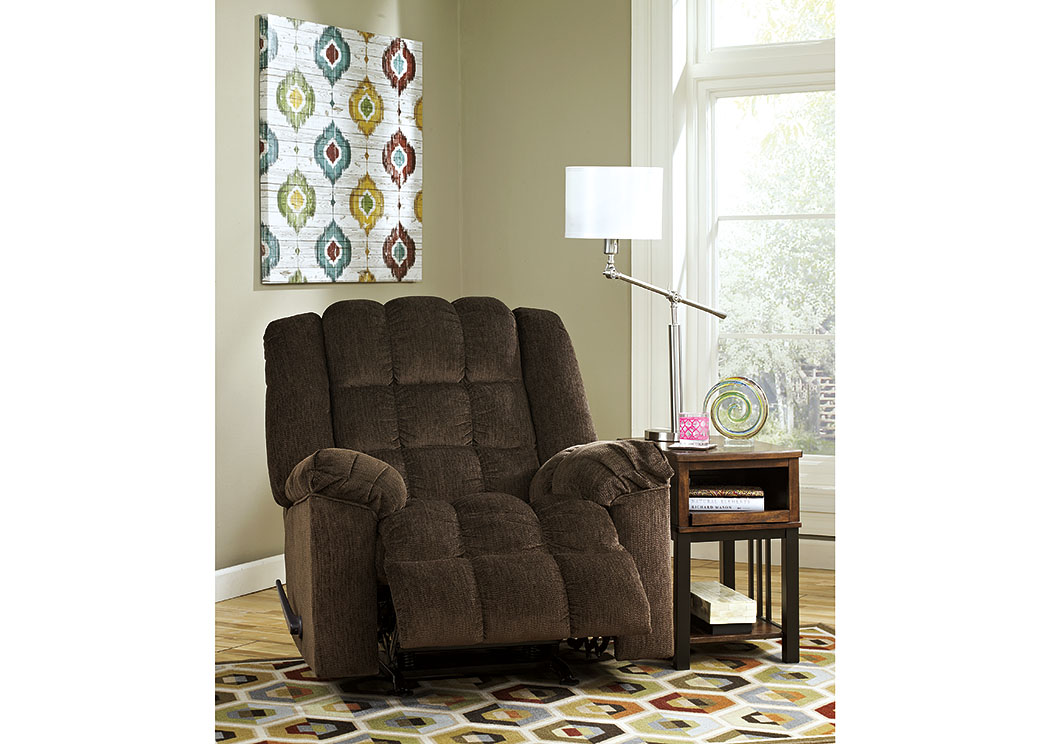 Ludden Cocoa Power Rocker Recliner,Signature Design By Ashley
