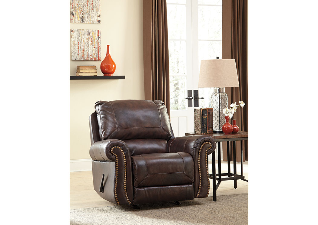 Bristan Walnut Rocker Recliner,Signature Design By Ashley