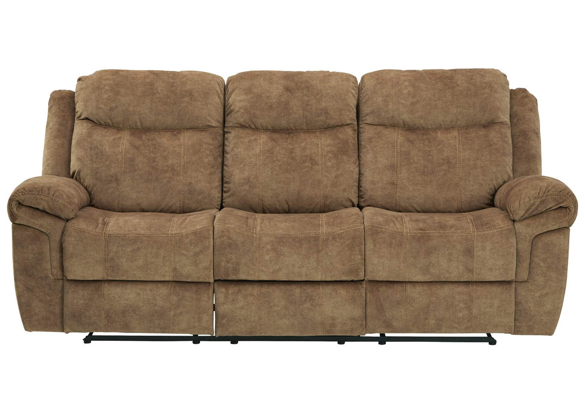 Huddle-Up Nutmeg Reclining Sofa with Drop Down Table,Signature Design By Ashley