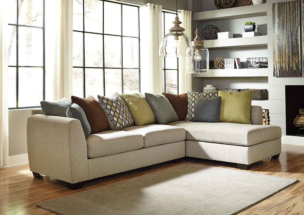Casheral Linen Right Arm Facing Chaise End Sectional,Benchcraft