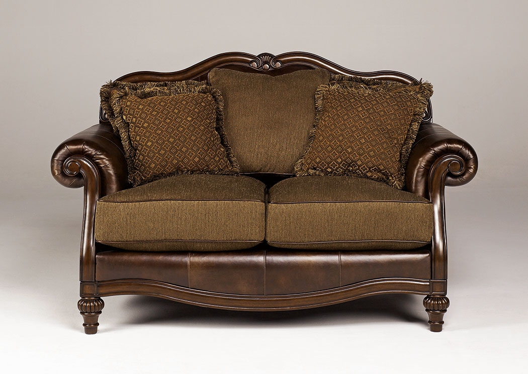 Claremore Antique Loveseat,Signature Design By Ashley