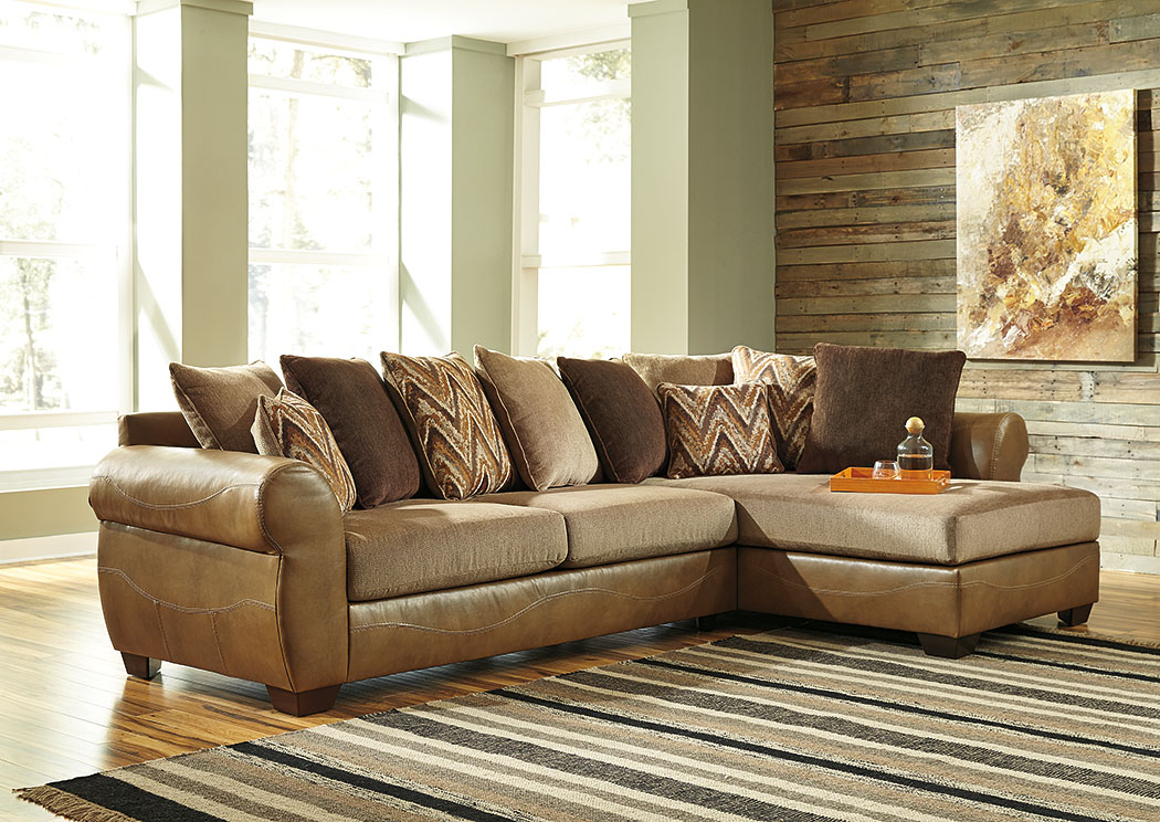 Declain Sand Sectional w/Right Facing Corner Chaise,Benchcraft