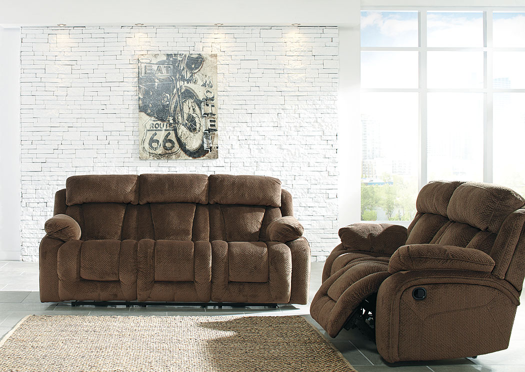 Stricklin Chocolate Reclining Sofa and Loveseat,Signature Design by Ashley