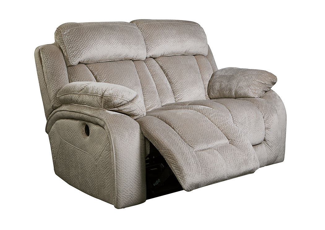 W A Akins Sons Stricklin Pebble Power Reclining Loveseat