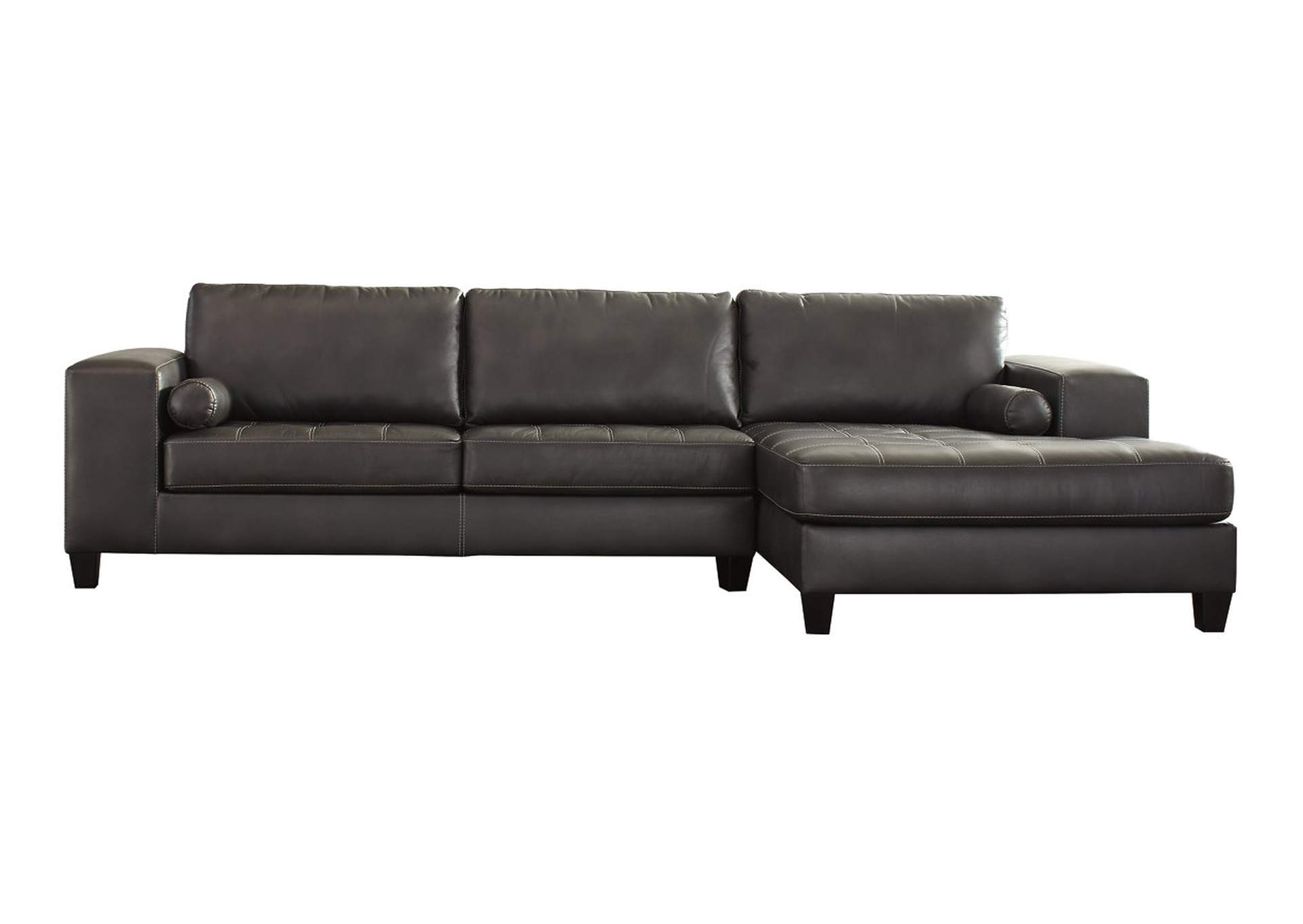 Harlem furniture nokomis charcoal right facing corner for Chaise 7900