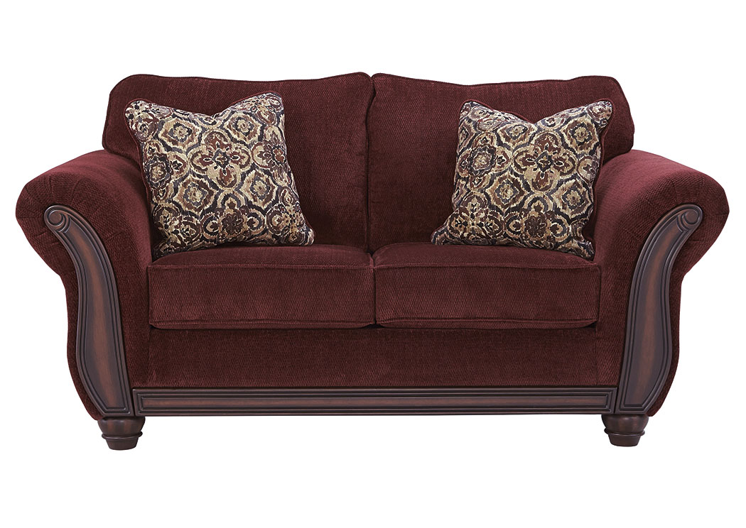 Chesterbrook Burgundy Loveseat,Signature Design By Ashley