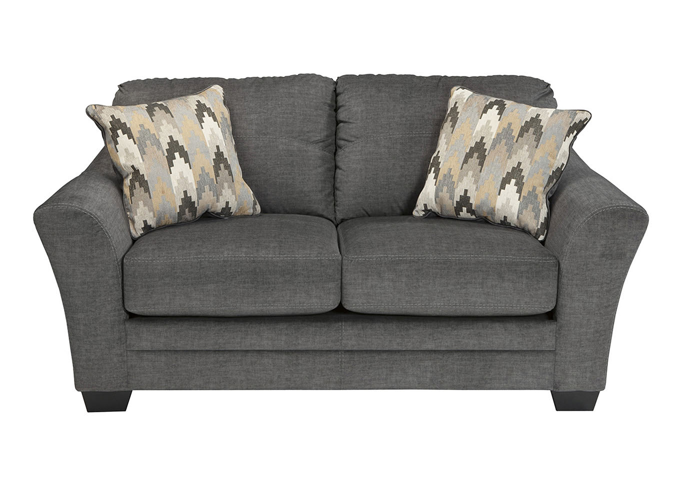 Oak Furniture Liquidators Braxlin Charcoal Loveseat