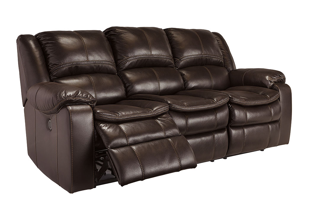 Long Knight Brown Reclining Power Sofa,Signature Design By Ashley