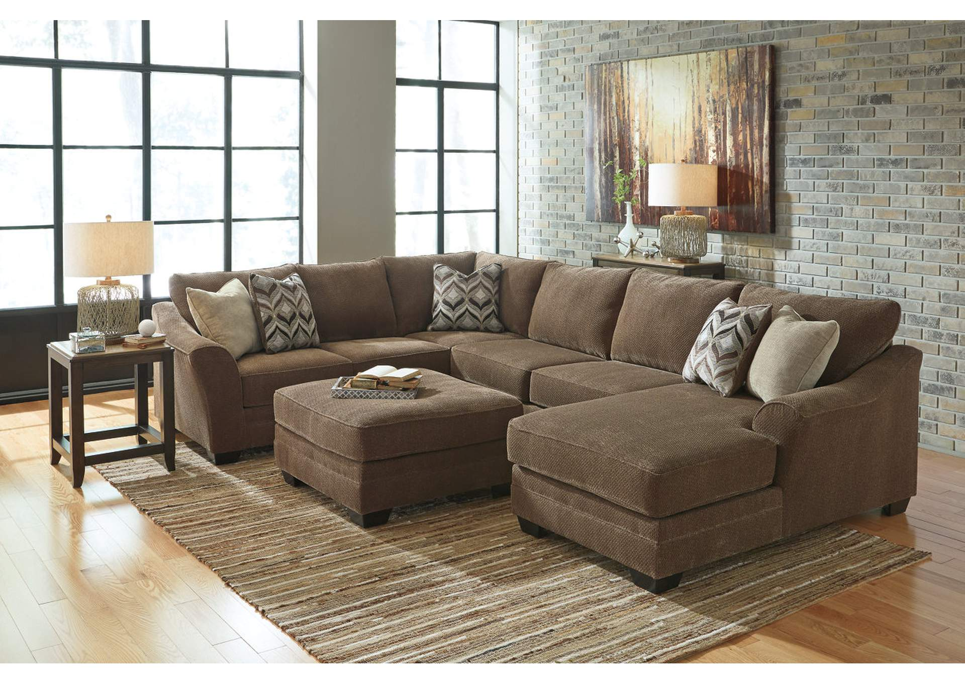 Signature Furniture Galleries Salinas Ca Justyna Teak Sectional W Right Facing Corner Chaise