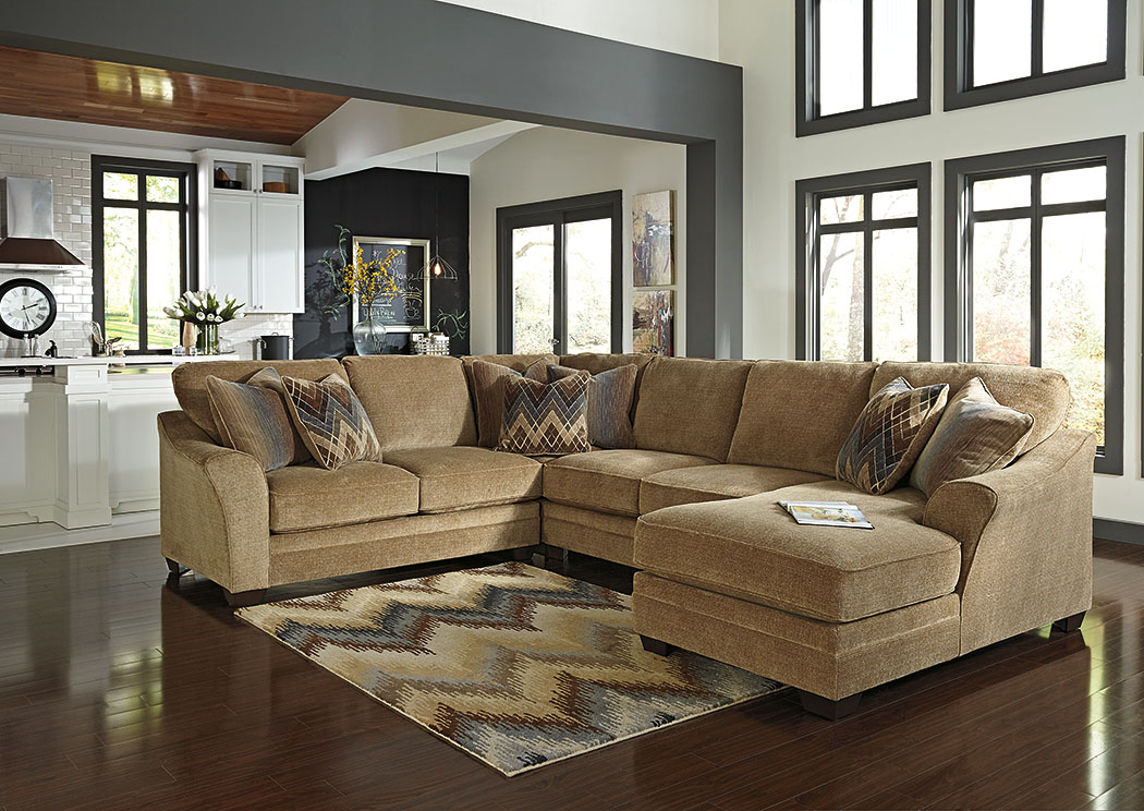 Lonsdale Barley Right Arm Facing Chaise End Sectional,Benchcraft