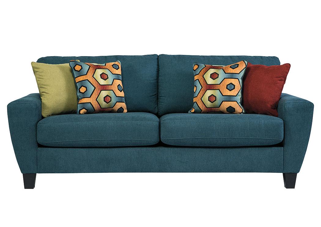 Wow Furniture Dallas TX Sagen Teal Sofa