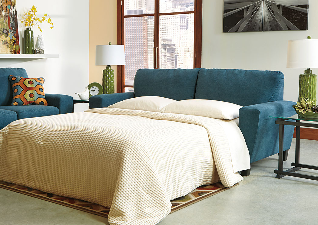 Sagen Teal Queen Sofa Sleeper,Signature Design By Ashley